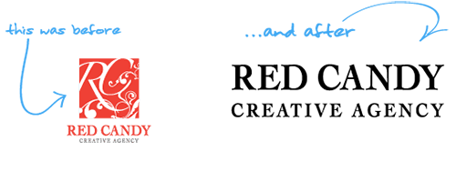 Red Candy rebrand example