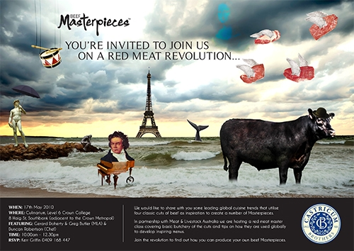 MLA Beef masterpieces invitation copy