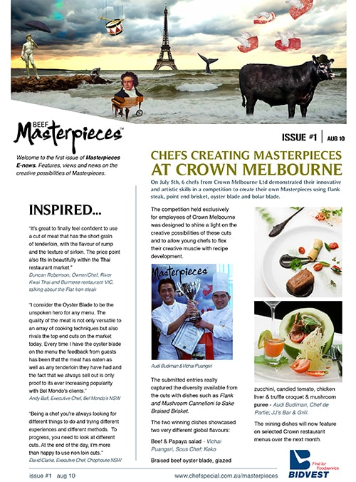 MLA Beef masterpieces newsletter