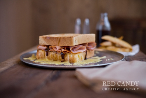Virginian Ham, Cheese and Sundried Tomato Toastie LR