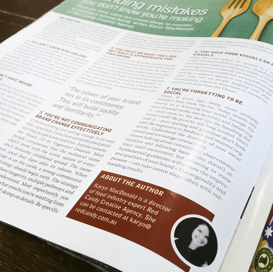 Food & Drink Magazine Article