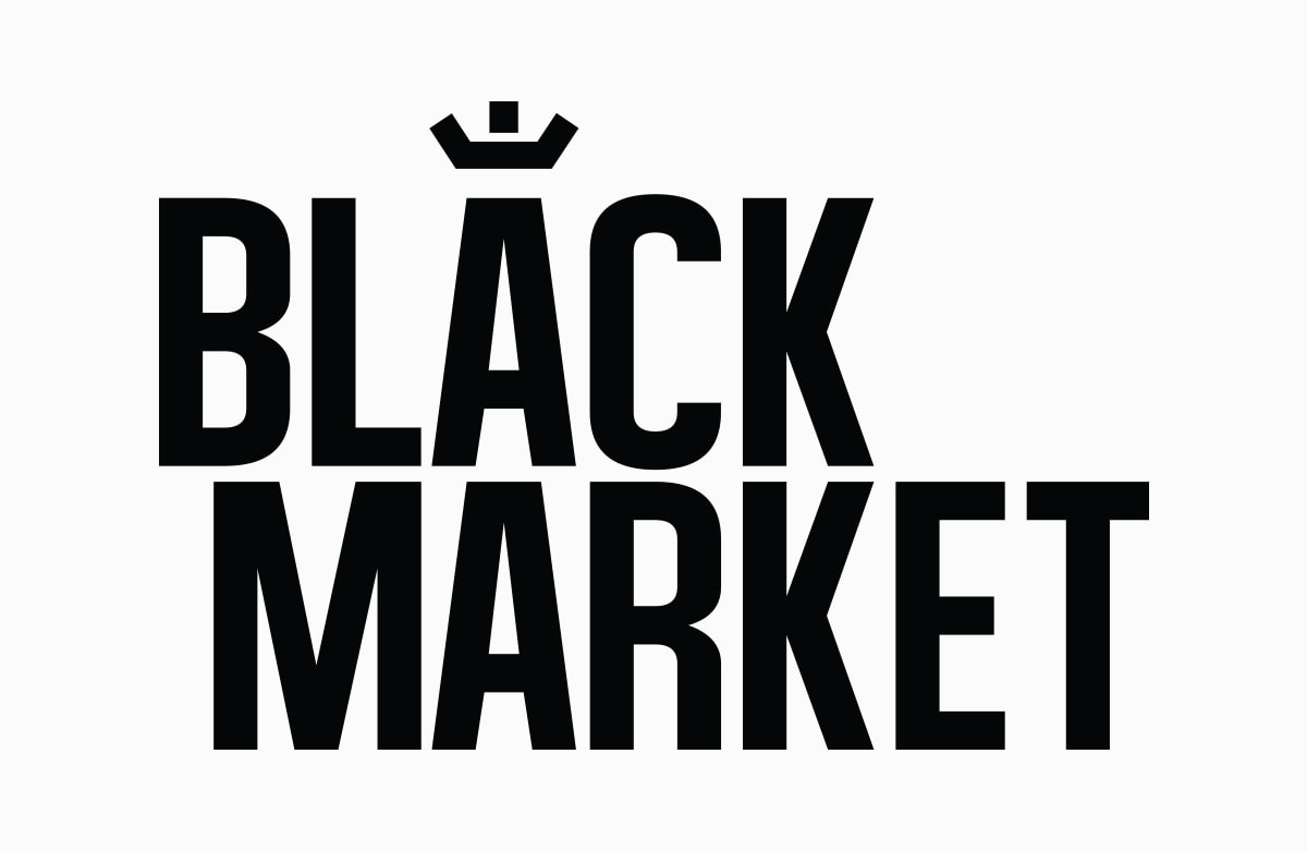 Black Market logo - Red Candy Creative Portfolio