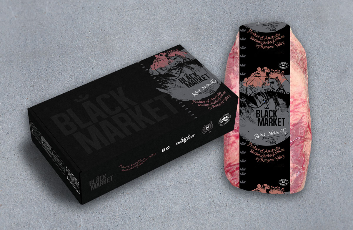 Black Market packaging - Red Candy Creative Portfolio