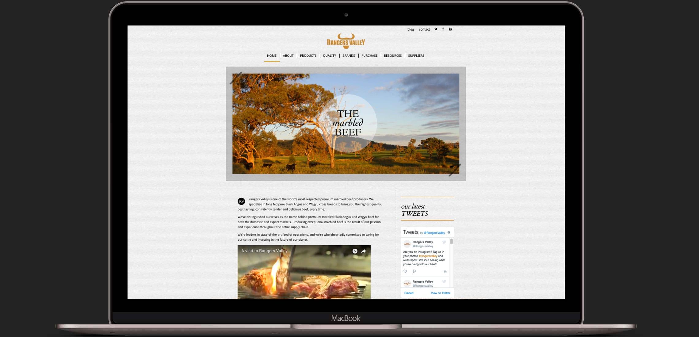 Rangers Valley Website - Red Candy Creative Portfolio